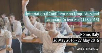 ICLLS 2016 international conference on linguistics and language sciences